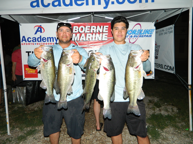 WOJCIK / ACOSTA TOP 28 TEAMS WITH 17.47LBS ON LAKE DUNLAP