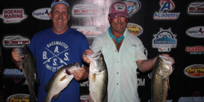 STEVE VANCE & DONNIE MARSHALL BRING IN 4 FISH FOR NEARLY 17 LBS TO WIN ON CANYON